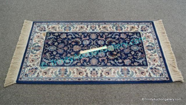 Karastan Indigo Tabriz Throw Rug Carpet