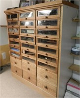 Large multi-drawer wooden cabinet
