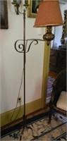 Wrought iron bridge lamp