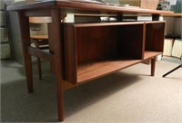 Mid-Century Modern desk with bookcase