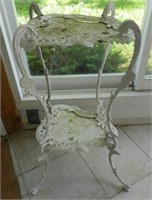 Victorian cast iron plant stand