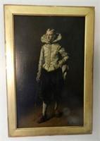 """FERDINAND ROYBET, Young gentleman, oil on panel, signed, height 15"""" X width 10"""""""