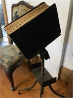 Victorian cast iron book stand