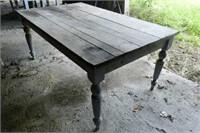 Pine harvest table, original colour