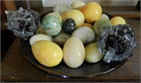Antique egg and fruit collection