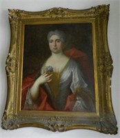 "Portrait of a Lady, oil on canvas, height 28"" X width 22 1/2"", unsigned"