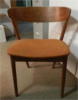 Mid-Century Modern teak chair signed GEORGE TANIER Denmark