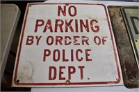 Old No Parking Metal Signs