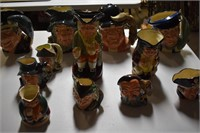 Large Collection Toby Mugs