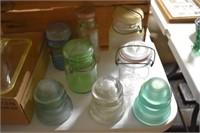 Old Blue Jars & Glass Insulators