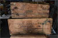 Old Wooden Advertising Boxes