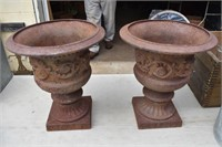 Early Cast Iron Urns