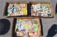 3 Boxes Old Football & Basketball Cards