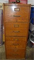 Large Oak File Cabinet