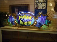 8' Casino Poker Room Sign