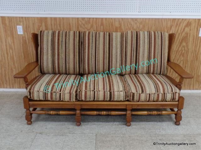 1950 S Early American Style Maple Sofa Asset Marketing