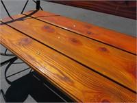 Custom Wagon Wheel Bench
