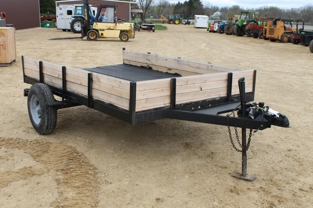 HOMEMADE UTILITY TRAILER WITH MOBILE HOME AXLE | SPENCER SALES on golf cart utility trailer, farm utility trailer, mobile home camper trailer, boat utility trailer, mobile home moving trailer,