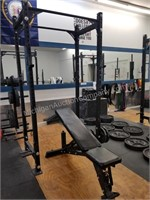 GBRX Power Rack with Incline Bench