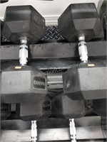 Pair of Rogue 60 lbs. Rubber Coated Dumbbells
