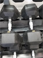 Pair of Rogue 65 lbs. Rubber Coated Dumbbells