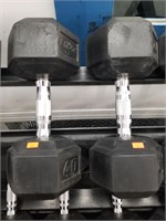 Pair of Rogue 40 lbs. Rubber Coated Dumbbells