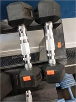 Pair of Rogue 5 lbs. Rubber Coated Dumbbells