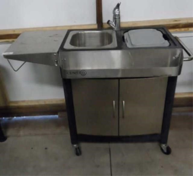 Centro Stainless Outdoor Kitchen Sink Cart Great West Property Auctions