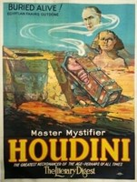 Houdini Buried Alive Lithograph - NO Reserve