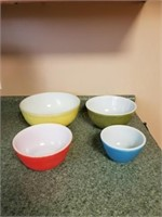 Pyrex Primary Colors Nesting Bowls