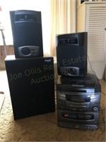 5 CD Disk Changer Stereo W/Speakers