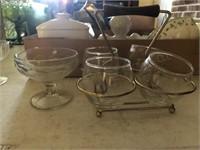 Brandy Server Set -Sherbet Glasses