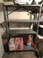 Metal Shelf W/Contents