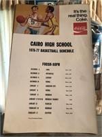Cairo High School 1976-77 Basketball Schedule