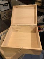 (2) Wooden Boxes