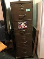 4 Drawer Filing Cabinet 15.5x24.5x52