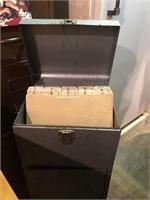 Metal Filing Cabinet 12.5x10x30