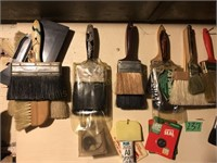 Contents of Wall, Paint Brushes, Etc.