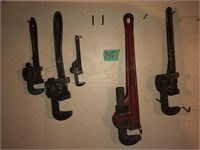 (5) Pipe Wrenches