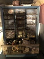 (2) Hardware Organizers with Contents