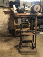 Work Stand with Buffer/Wire Wheel, and Sanding