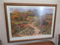 Tobacoo Harvest In The Old Days Framed Print By