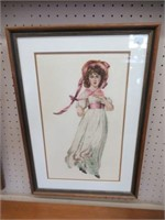 """Pair of needlepoint framed pieces 16""""x23"""""""
