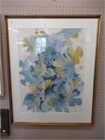 """Nancy Brown framed water colour 27""""x34"""""""
