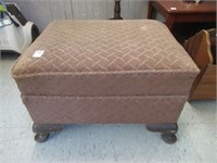 """Upholstered foot stool 21""""x17""""x13"""""""