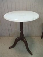 """Marble top plant stand 22""""tall"""