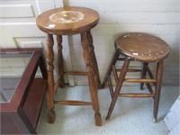 "2 bar stools 30"" & 23"""
