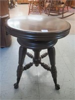 Glass Claw foot piano stool