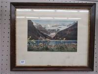 Framed Lake Louise print