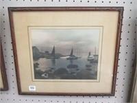 Indian Harbor framed print
